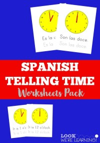 Spanish Worksheets for Kids: Spanish Telling Time