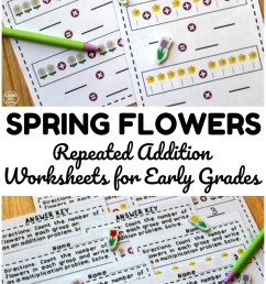 Flower Repeated Addition Worksheets - Look! We're Learning! [ 1102 x 735 Pixel ]