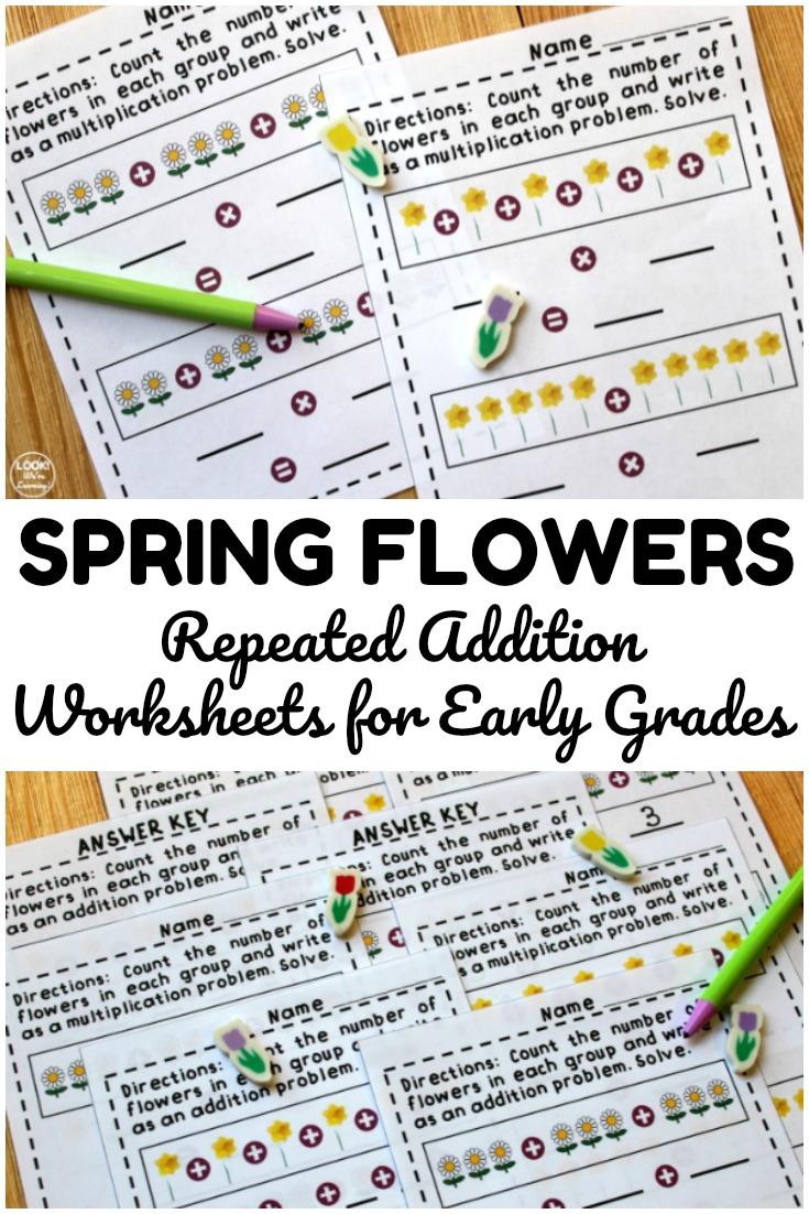 medium resolution of Flower Repeated Addition Worksheets - Look! We're Learning!