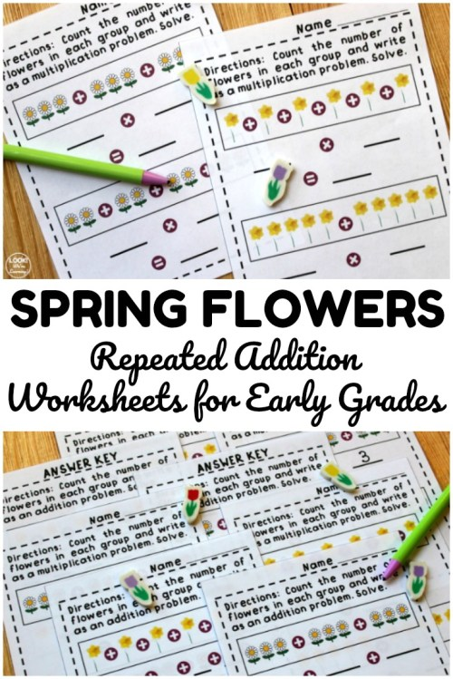 small resolution of Flower Repeated Addition Worksheets - Look! We're Learning!