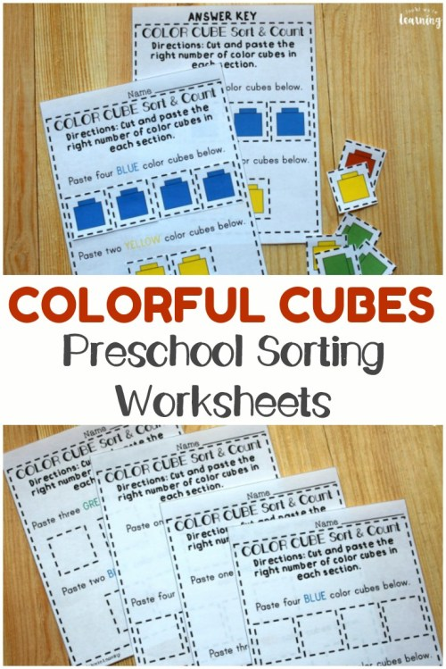 small resolution of Preschool Worksheets: Preschool Sorting Worksheets - Look! We're Learning!
