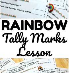 Fun Rainbow Tally Marks Worksheets for Kids - Look! We're Learning! [ 1550 x 735 Pixel ]