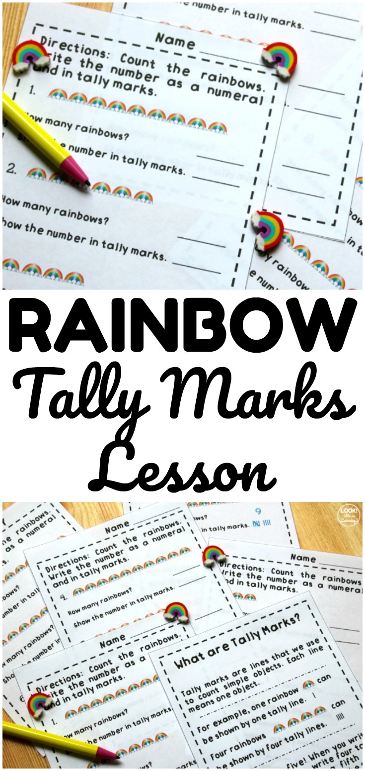 medium resolution of Fun Rainbow Tally Marks Worksheets for Kids - Look! We're Learning!