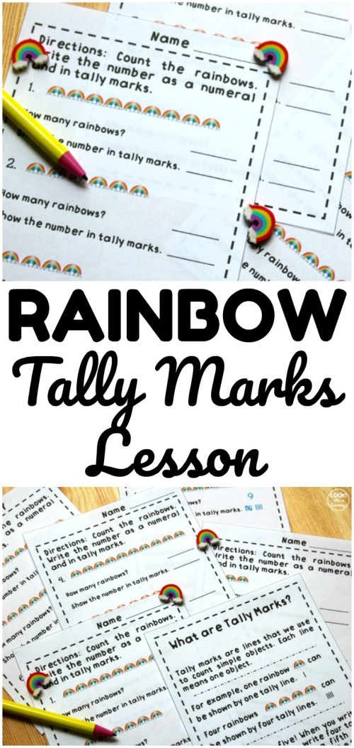 small resolution of Fun Rainbow Tally Marks Worksheets for Kids - Look! We're Learning!