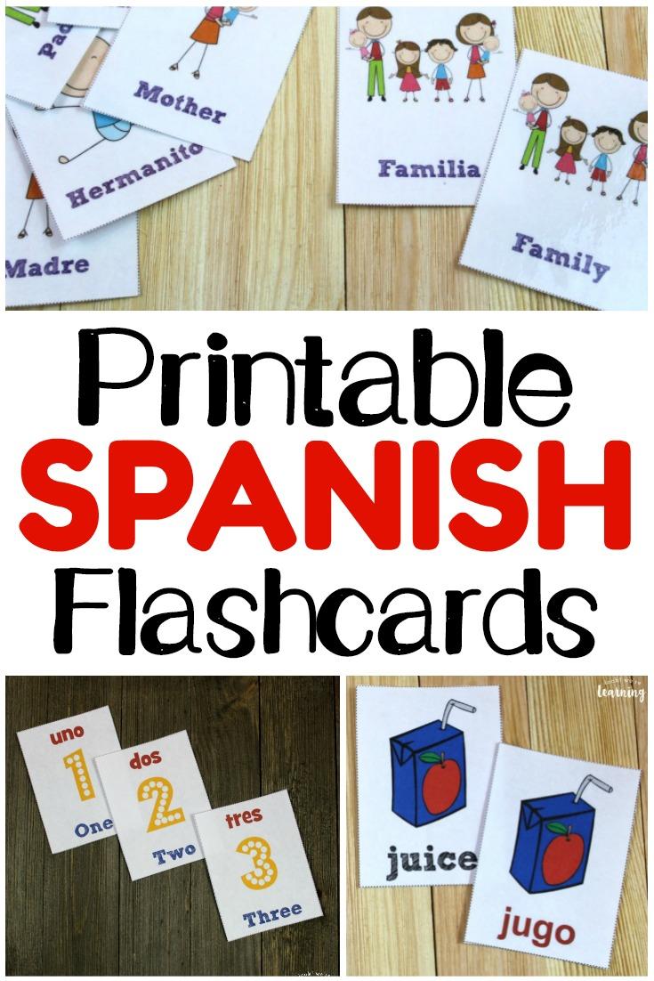 medium resolution of Printable Spanish Flashcards - Look! We're Learning!