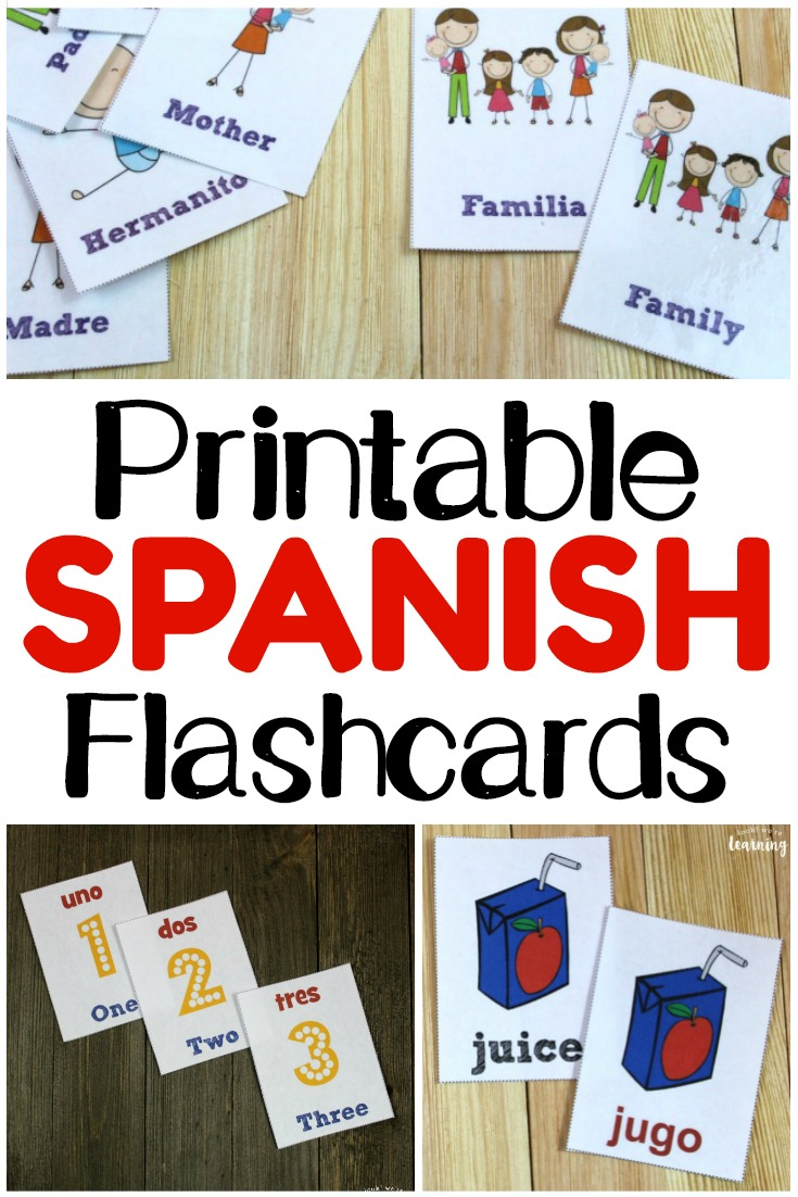 hight resolution of Printable Spanish Flashcards - Look! We're Learning!