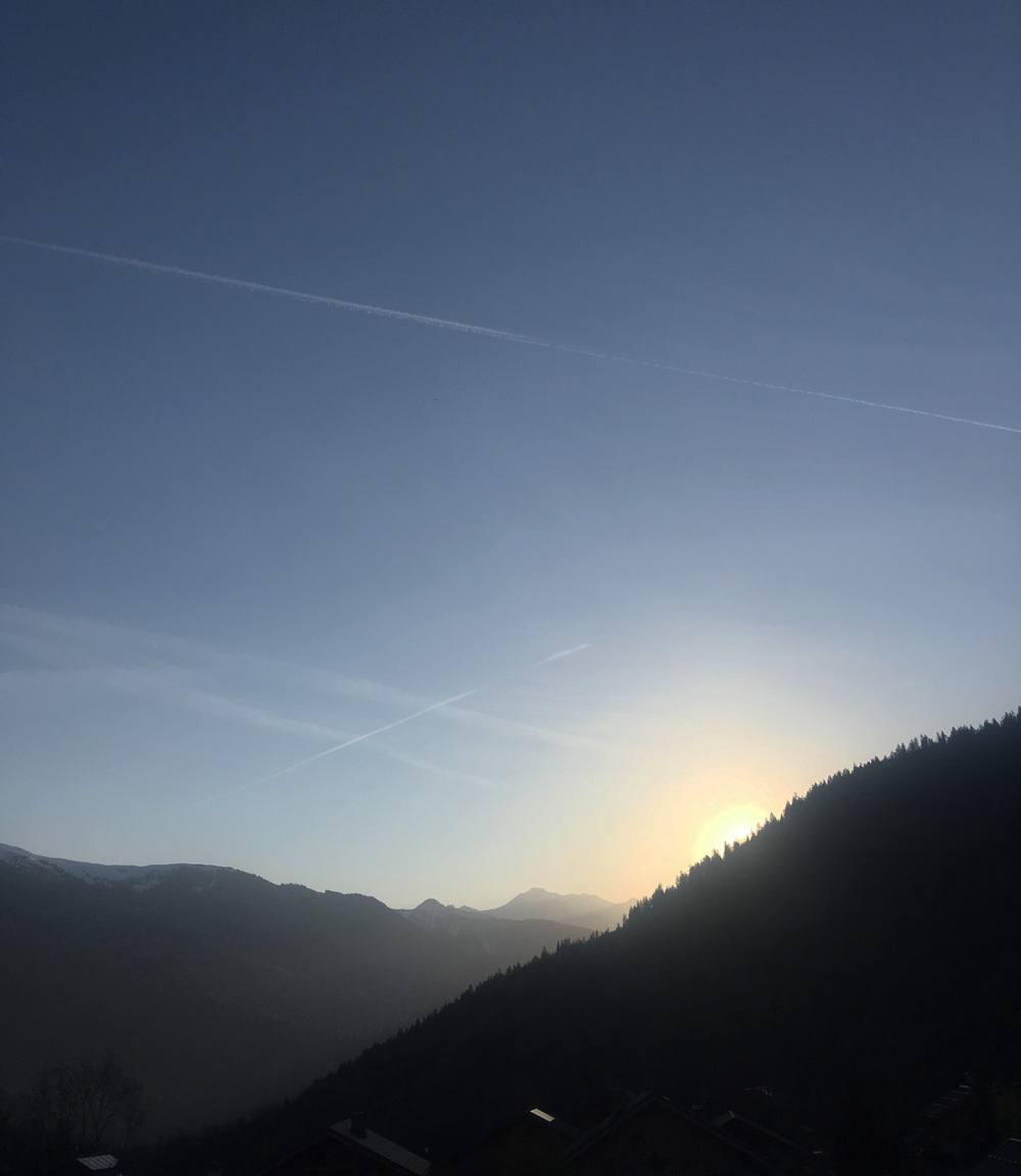 Sunrise Les Allues French Alps