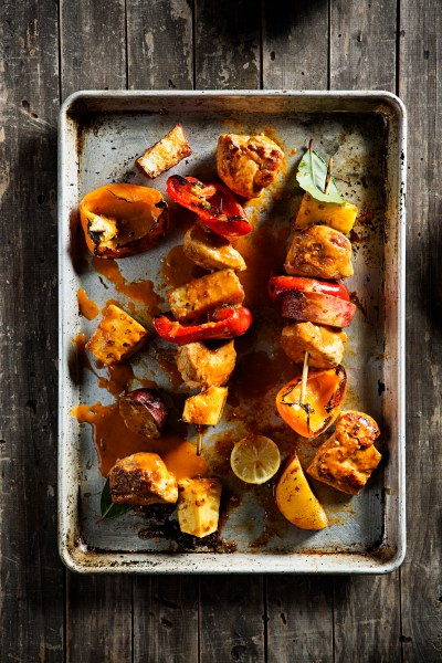 Recipe 1, Chicken & Pepper Kebabs with Nando's PERi-PERi Sauce