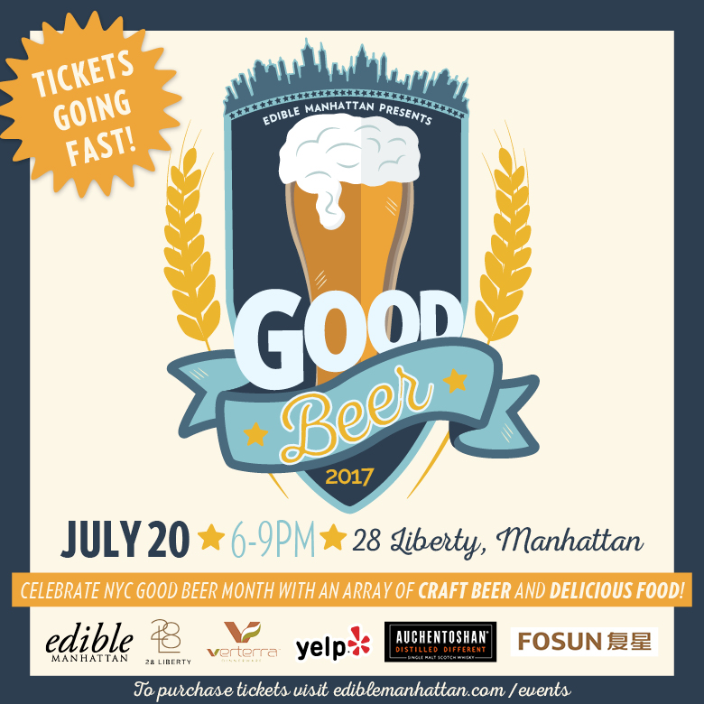 Edible Manhattan's Good Beer Event – July 20th