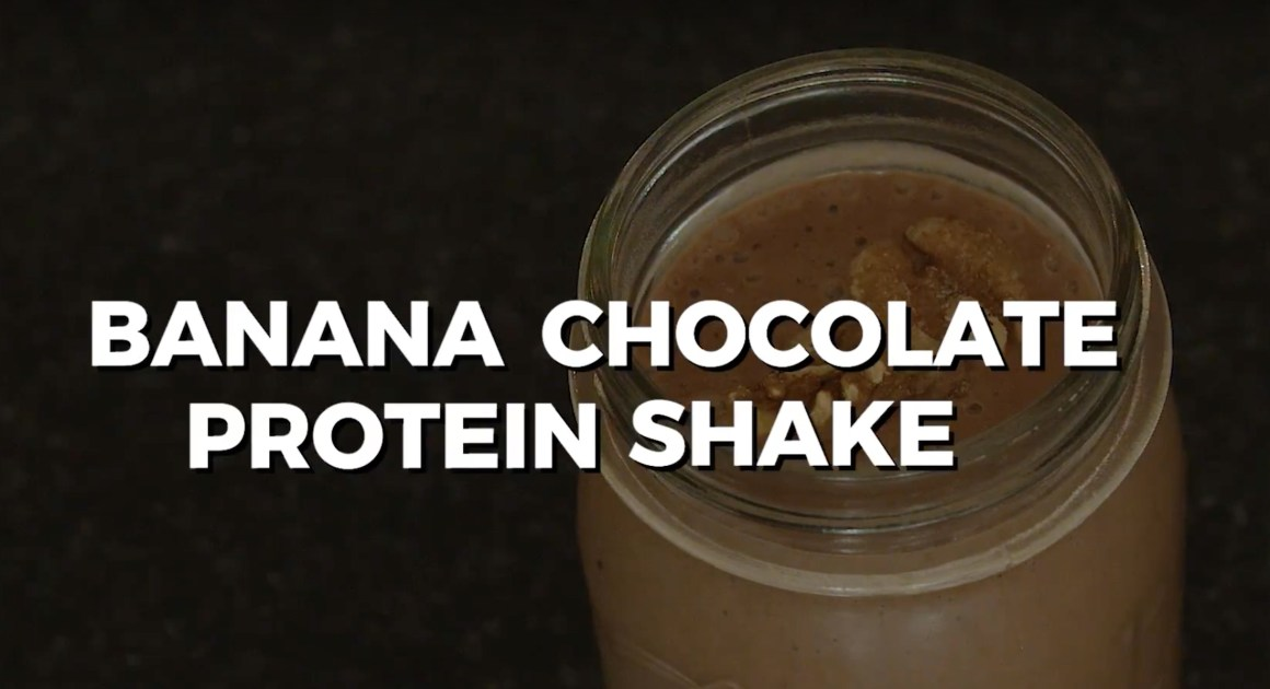 Banana Chocolate Protein Shake Recipe for your Sporty Lifestyle (VIDEO)