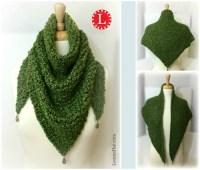 Triangle Shawl on a Round Knitting Loom
