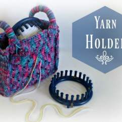 Hook On Chair Posture In A Loom Knit Yarn Holder Bag Video - Loomahat.com