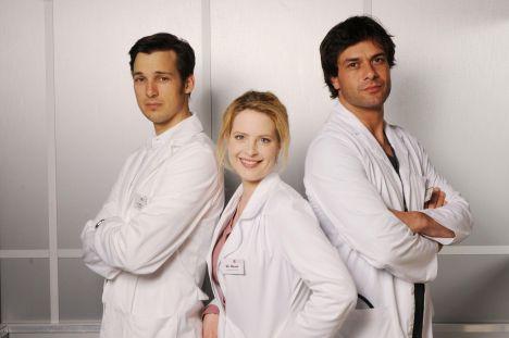 Diana Amft, Florian David Fitz und Kai Schumann in Doctor's Diary