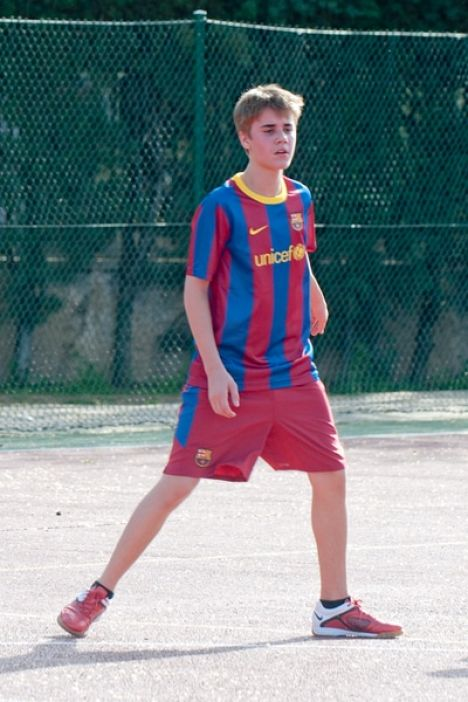Justin Bieber Playing Soccer