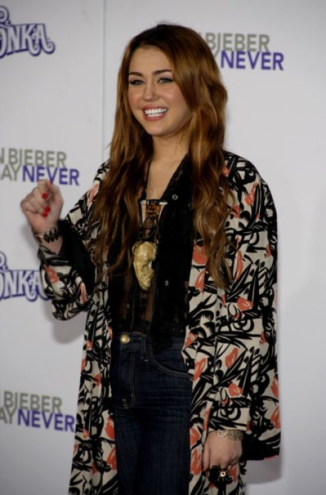 """Miley Cyrus - """"Justin Bieber: Never Say Never"""" Los Angeles Premiere"""