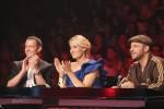 Die X Factor Jury (v.l.): Till Brönner, Sarah Connor und DAS BO.