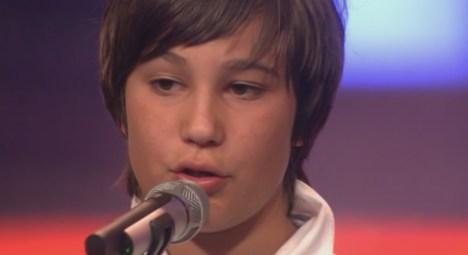 Das Supertalent 2011: Elias Gutneder berührt Sylvie van der Vaart - TV