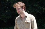 """Robert Pattinson Filming """"Remember Me"""" in Central Park on June 30, 2009"""