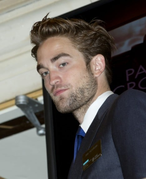 Robert Pattinson and David Cronenberg Ring the Opening Bell at the New York Stock Exchange on August 14, 2012