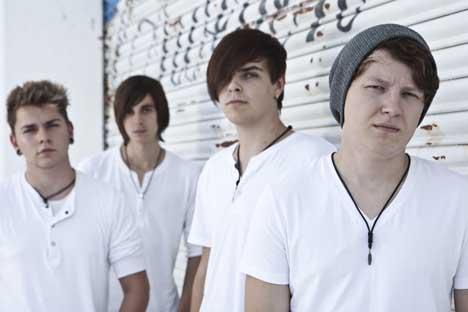 Band Rune, v.l. Sebastian (22), Steffen (20), Marvi (18) und Patrick (20)