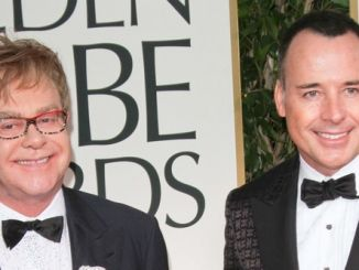 Elton John and David Furnish - 69th Annual Golden Globe Awards