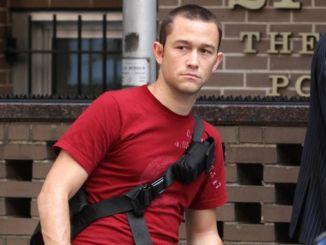 "Joseph Gordon-Levitt - ""Premium Rush"" Filming on the Streets of Manhattan in New York City"