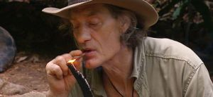 Dschungelcamp 2014: Winfried Glatzeder raucht kreativ!