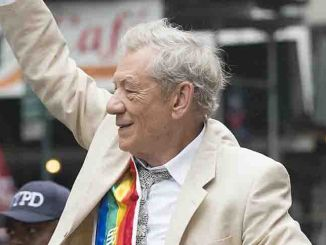 Sir Ian McKellen - New York City Pride March 2015 on Fifth Avenue in New York City