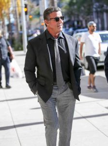 Sylvester Stallone Sighted in Los Angeles on February 6, 2016