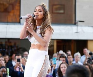 """Jennifer Lopez and Lin-Manuel Miranda in Concert on NBC's """"The Today Show"""" at Rockefeller Plaza in New York City - July 11, 2016"""