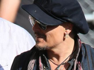 "Johnny Depp Sighted Arriving at ""Jimmy Kimmel Live!"" on October 31, 2016"
