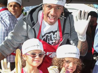 Nick Cannon, Moroccan Scott Cannon, Monroe Cannon - 81st Annual Los Angeles Mission Thanksgiving Meal for the Homeless