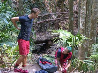 David Friedrich (l.) und Daniele Negroni im Camp Ich bin ein Star _ Holt mich hier raus!