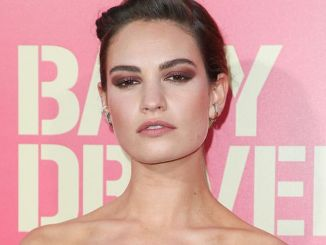 """Lily James - """"Baby Driver"""" Los Angeles Premiere"""