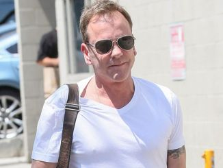 "Kiefer Sutherland Sighted Arriving at ""Jimmy Kimmel Live!"" on August 24, 2016"