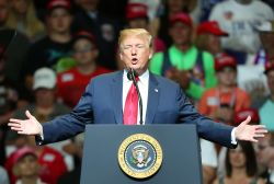 Donald Trump - Presidential Make America Great Again Rally at Northside Middle School in Elkhart on May 10, 2018