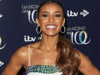 """Melody Thornton - """"Dancing on Ice"""" Launch Showcase at the Natural History Museum Ice Rink in Kensington"""