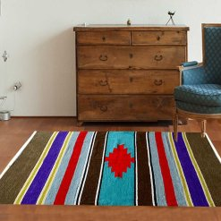 Handloom Cotton and Chenille Durries 4 X 6 Feet by Avioni