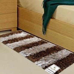 Avioni Handloom Coffee & Biege Plain Solid Premium Bedside Carpet (22X55 Inch)