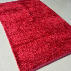 Modern Rugs For Living Room – Solid Red Rug – Area Rug by Avioni