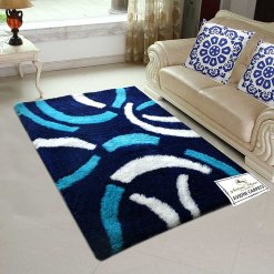 Avioni Shaggy Blue Design Premium Carpet