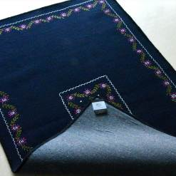 Blue Carpet | Woolen Mat | Avioni| Embroidered Rug |