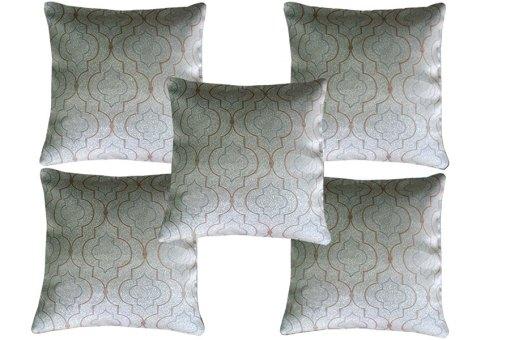 Faux Silk Grey designer cushion covers (Set of 5)