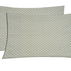 Pillowcase Collection – Beautiful Fancy Pillow Cases in Polka Dots – 100% Cotton – Set of 2 – by Avioni