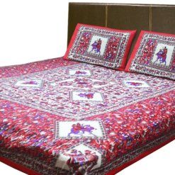 Double Bedsheet 100% Cotton Jaipuri Printed By Avioni