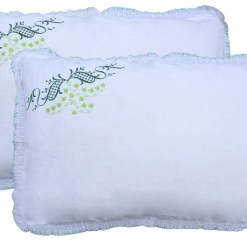 Pillow Cases – 100% Cotton – Embroidered Pillows (Covers) –  Set of 2 – Avioni
