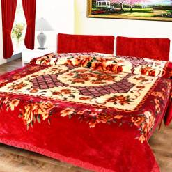 Avioni Mink Single Bed Blankets Royal Look Floral Very Soft And Warm -Heavy weight- queen size