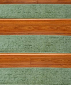Stair Carpet -  Set of 6 Runners -  Contemporary - Durable - Anti Slip With Rubber Backing - 30 x9 inches - Big Discount - Avioni