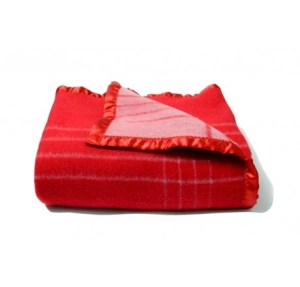 Avioni Home Premium Wool Rich Red  Wool Blankets