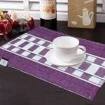 vioni Premium Cotton Ribbed Table Mats Horizon Collection Export Quality Purple Design ( Set of 7) …